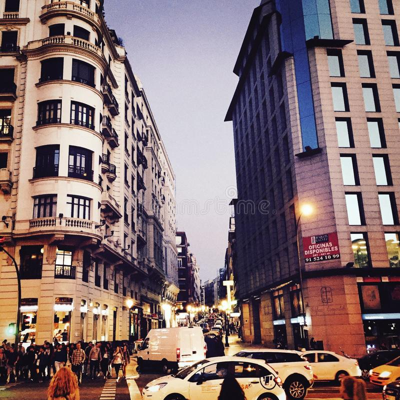 Madrid stad royaltyfri foto