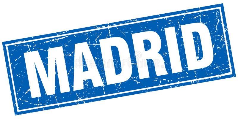 Madrid stamp. Madrid square grunge stamp. Madrid sign. Madrid stock illustration