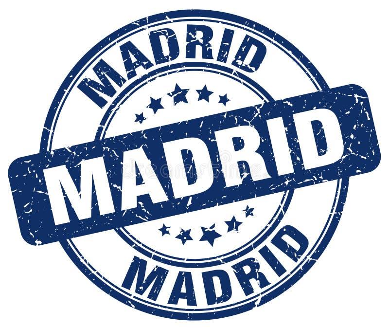 Madrid stamp. Madrid round grunge stamp isolated on white background. Madrid royalty free illustration