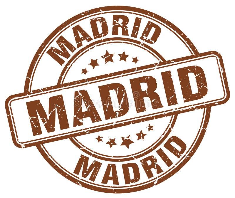 Madrid stamp. Madrid round grunge stamp isolated on white background. Madrid stock illustration
