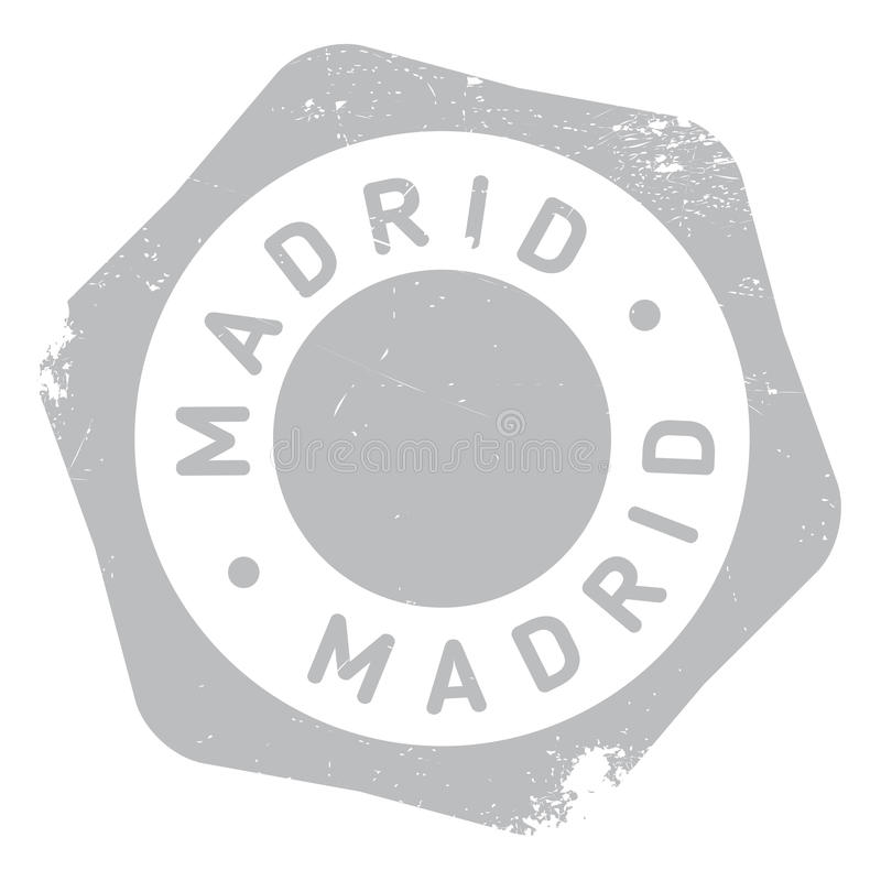 Madrid stamp rubber grunge. Madrid stamp. Grunge design with dust scratches. Effects can be easily removed for a clean, crisp look. Color is easily changed royalty free illustration