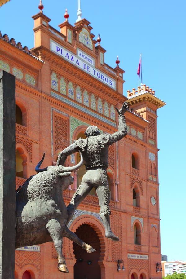 Madrid-Stierkampfarena Las Ventas Piazza hervorragend stockbilder