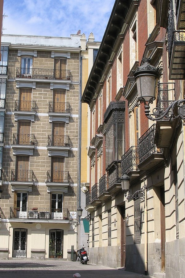 Madrid Street stock photos