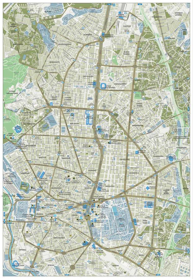 Madrid Street Map stock vector Illustration of blue 87859918