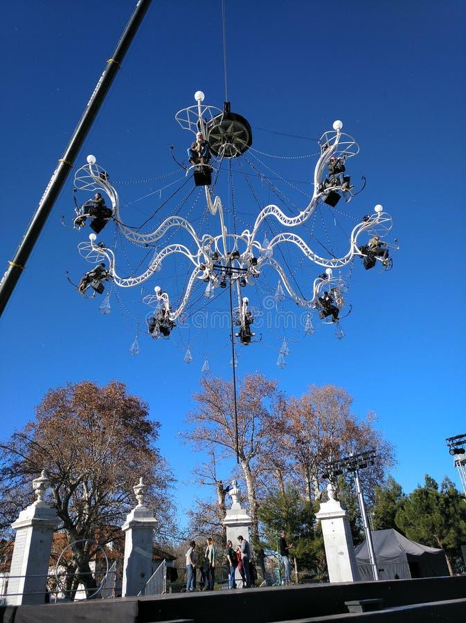 Madrid 30th December 2018: Levande uttrycklig konsertCristal slott av Transe royaltyfria bilder