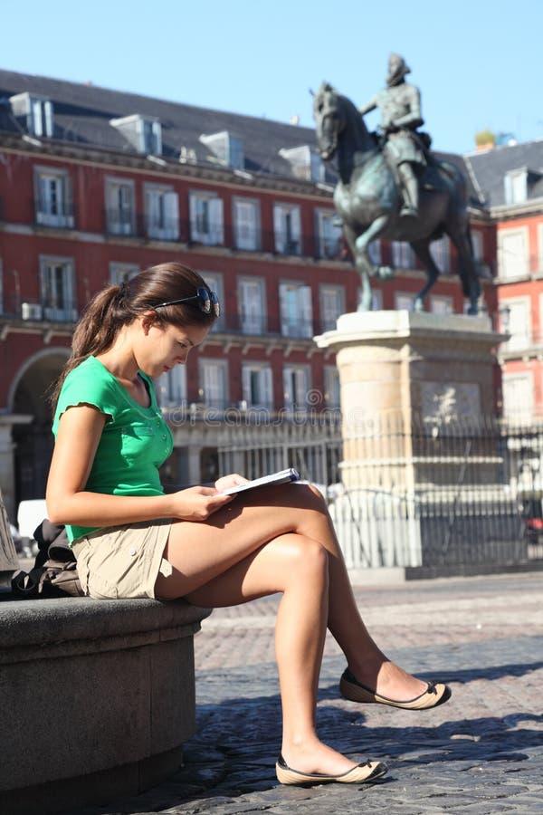 madrid turysty kobieta zdjęcia stock