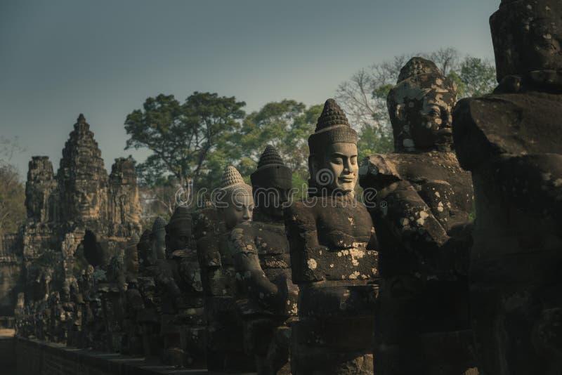 Madrugada en el ¼ ŒCambodia de Angkor Watï fotografía de archivo libre de regalías