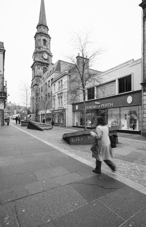 Madrugada en Inverness, Escocia imagen de archivo