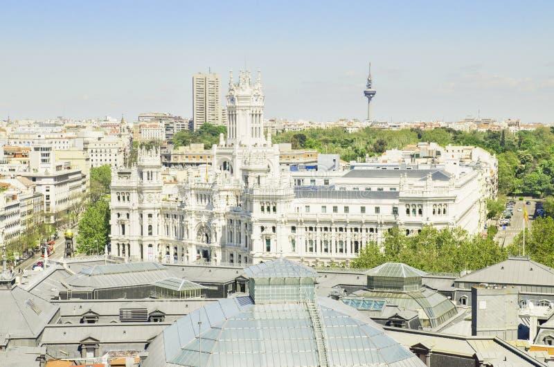Madryt anteny pejzaż miejski. zdjęcie royalty free