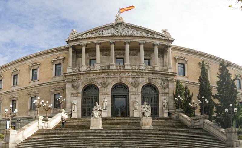 Madryt biblioteczny national Hiszpanii obrazy stock