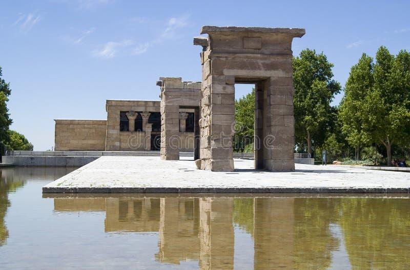 Madryt debod Hiszpanii do świątyni obraz royalty free
