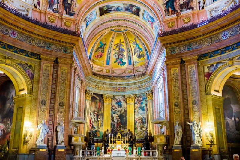 Madryt, Fesco od bazyliki de San Fransisco el Grande - obrazy stock