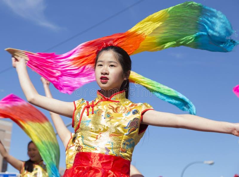 Madryt, Hiszpania, Chińska nowy rok parada w sąsiedztwie My zdjęcie stock