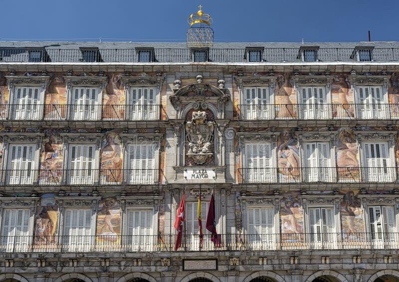 Madryt Hiszpania: Placu Mayor zdjęcie royalty free