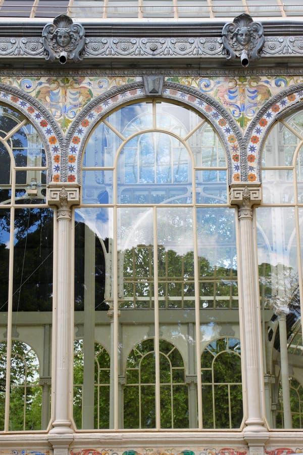 Madryt kryształu pałac obraz stock