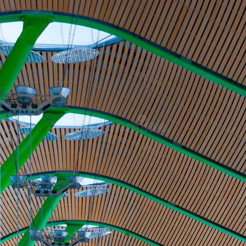 Madryt lotniska sufit zdjęcie stock