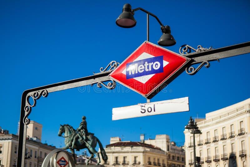 Madryt metro zdjęcie stock