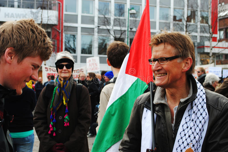 Mads Gilbert. At a May 1st demonstration in Tromsø, Norway 2011. Gilbert (born June 2, 1947, Porsgrunn) is a Norwegian doctor and solidarity worker. Gilbert stock photos