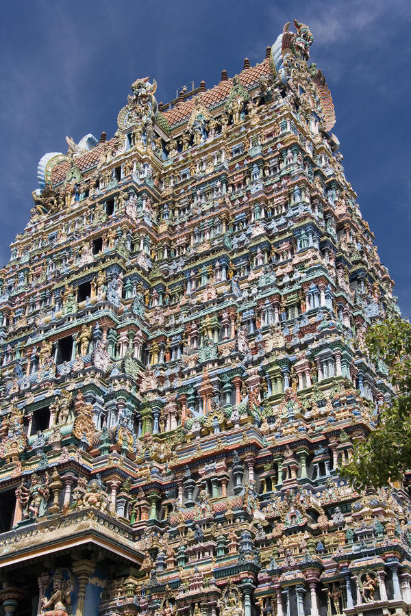 Madurai - Minakshi Sundareshvera Temple - India. The Minakshi Sundareshvera Hindu Temple at Madurai in the Tamil Nadu region of southern India royalty free stock image