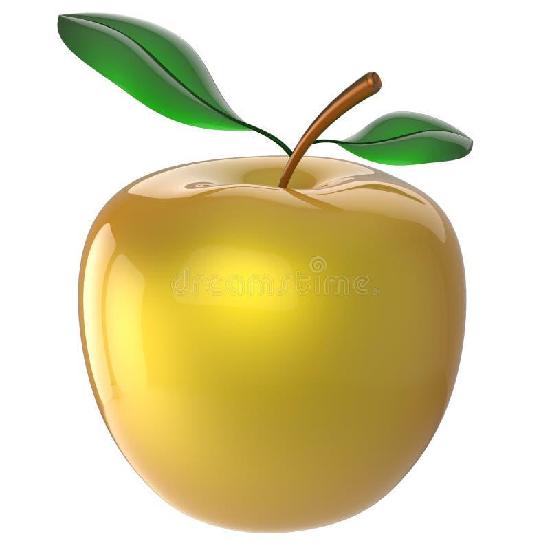 Maduro fresco antioxidante dourado do amarelo do fruto da nutrição de Apple ilustração stock