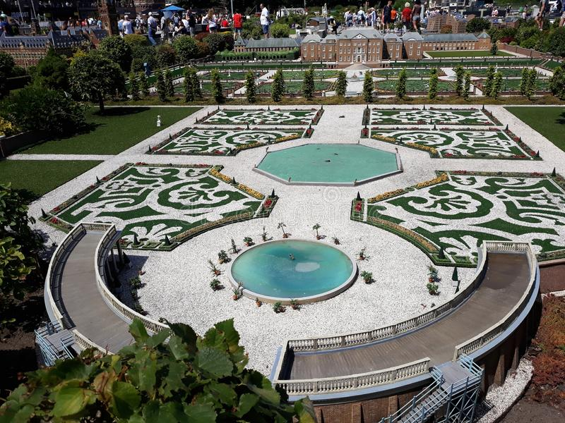 Madurodam. Garden from Royal palace `Het Loo` , Apeldoorn. 17-July 2018. Miniature attraction park Madurodam in The Hague, Netherlands, South Holland, Europe stock photos