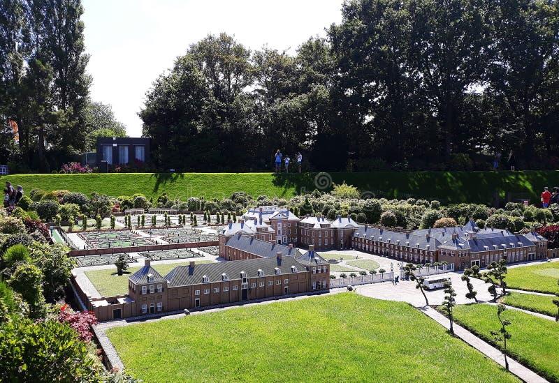 Madurodam. Garden from Royal palace `Het Loo` , Apeldoorn. 17-July 2018. Miniature attraction park Madurodam in The Hague, Netherlands, South Holland, Europe stock photo