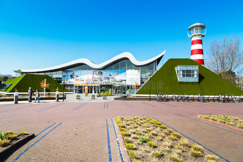 Madurodam, miniature park and tourist attraction entrance in Hague, Netherlands. Hague, Netherlands - April 8, 2016: Entrance to Madurodam, Holland miniature stock photo