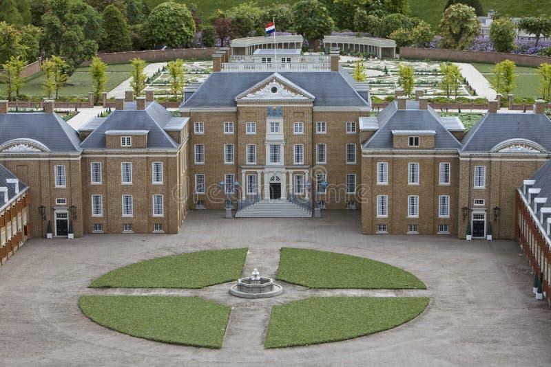 Het Loo Palace in Apeldoorn, Madurodam Miniature. Het Loo Palace and National Museum in Apeldoorn, Madurodam Miniature Town, Netherlands stock photo