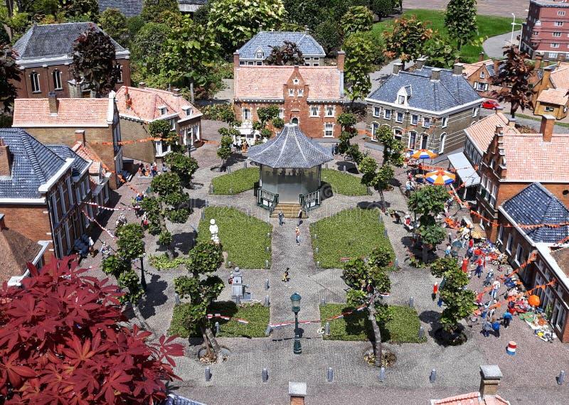 Madurodam, miniatyrområde i Haag royaltyfri fotografi