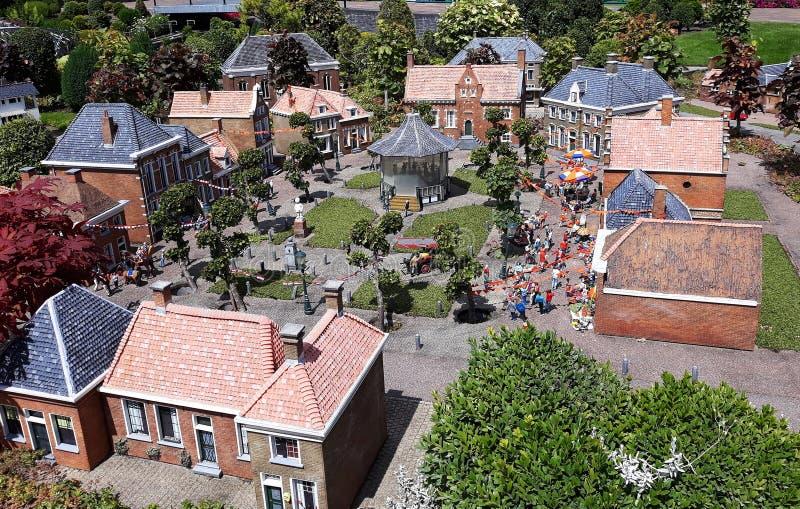 Madurodam, miniatyrområde i Haag arkivfoto