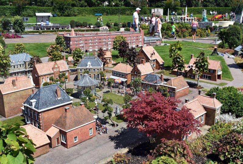 Madurodam, miniatyrområde i Haag arkivfoton