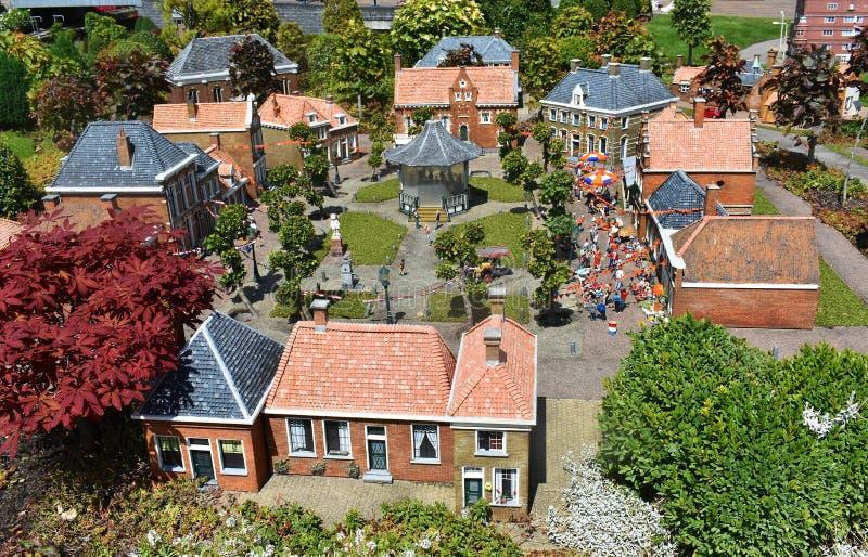 Madurodam, miniatyrområde i Haag arkivbild