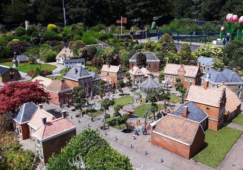 Madurodam, miniatyrområde i Haag royaltyfri foto