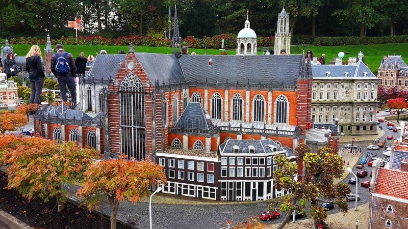 Madurodam, parque diminuto e atração turística em Haia, Países Baixos imagens de stock