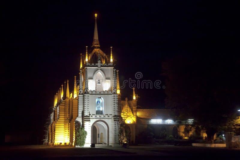Mae De Opłata Kościół Goa krajobraz zdjęcie royalty free