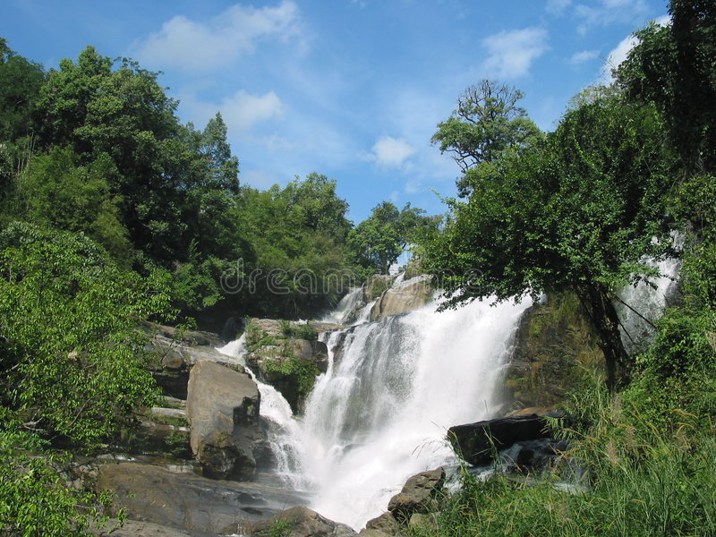 Mae Glang Wasserfall, Thailand lizenzfreies stockfoto
