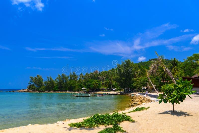 Mae Haad海滩,酸值Phangan海岛, Suratthani,泰国 库存照片