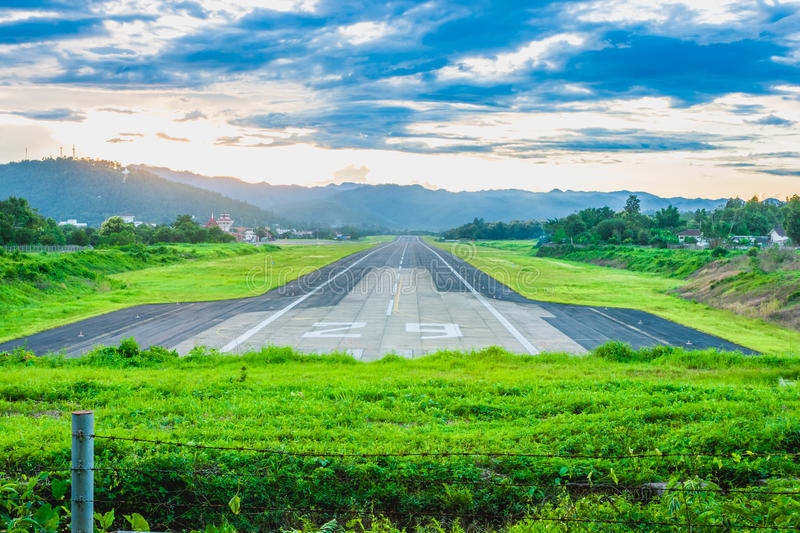 Mae Hong Son Airport stock afbeelding