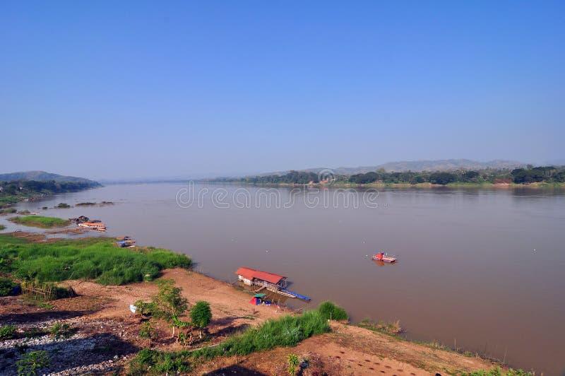 Mae Khong flod Chaingkan arkivfoto