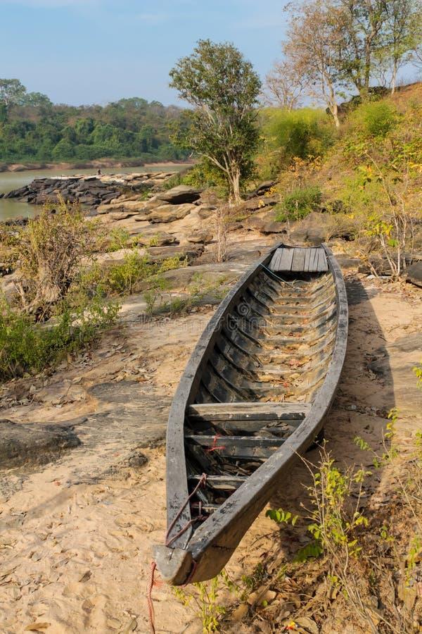 Mae Khong-Flussbank an Thailand- und Laos-Grenze stockfoto