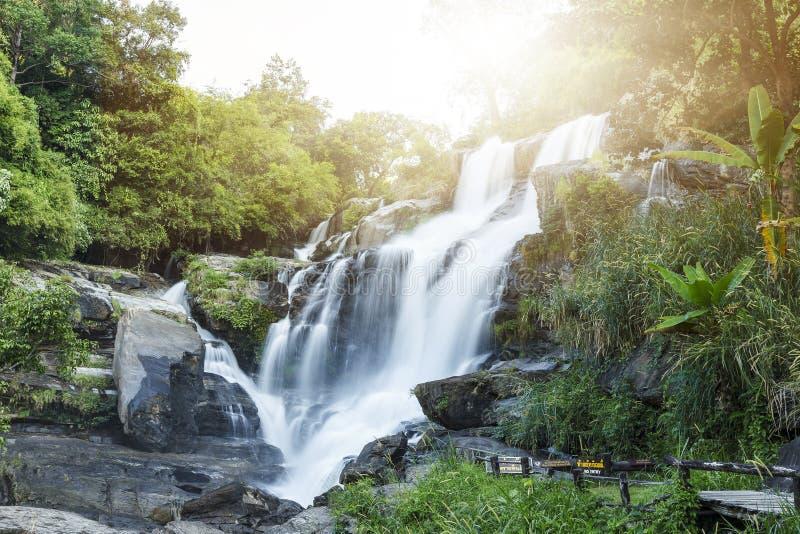 Mae Klang waterfall in doi-inthanon, Chiangmai Thailand. Mae Klang waterfall in forest of doi-inthanon, Chiangmai Thailand stock photography
