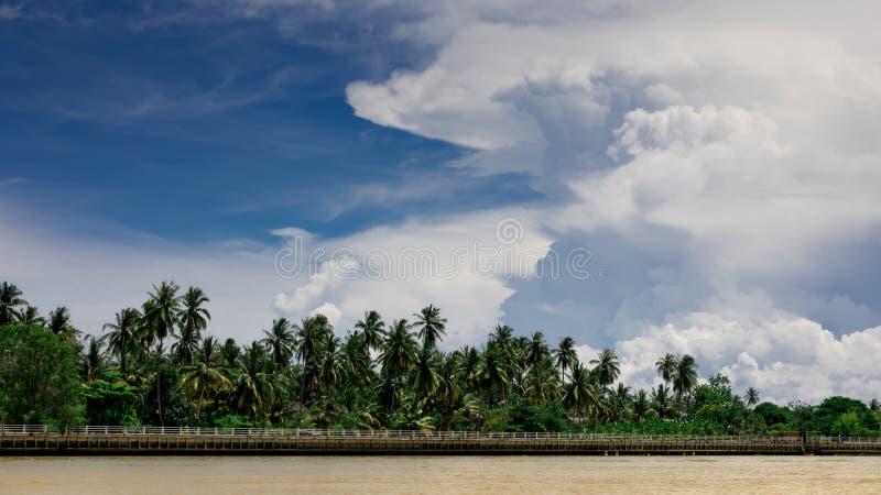 Mae Klong River Amphawa image stock