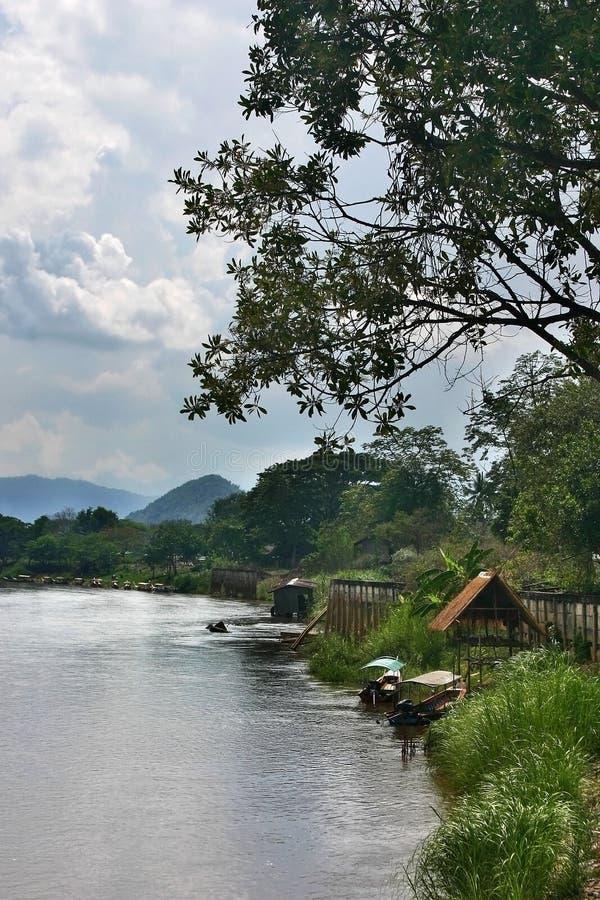 mae koków rzeka thaila północna fotografia stock