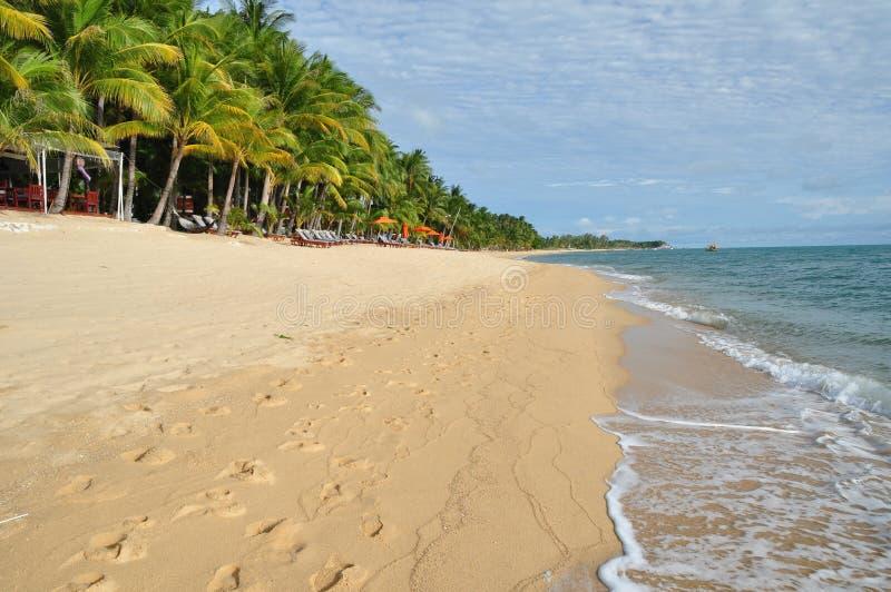 Mae Nam Beach sur Koh Samui photos stock