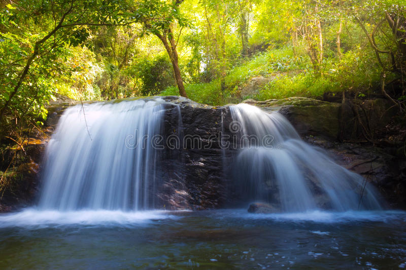 Mae parn waterfall. In chiangmai Thailand royalty free stock images