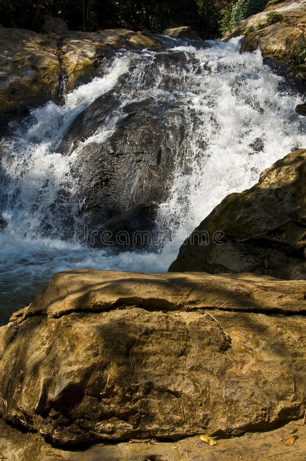 Download Mae Sa Waterfall stock image. Image of flow, outdoors - 19400377
