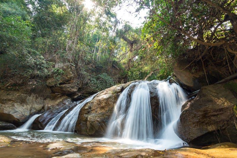 Mae Sa Waterfall in Chiang Mai,. Thailand royalty free stock photos