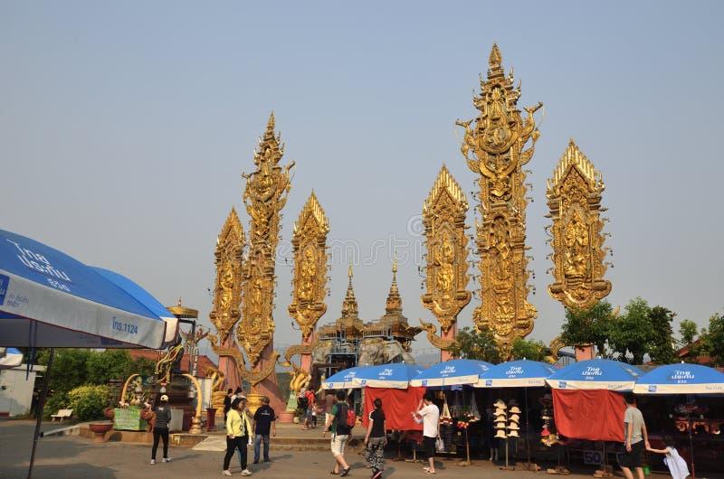 Mae Sai stad i norden av Thailand arkivfoton