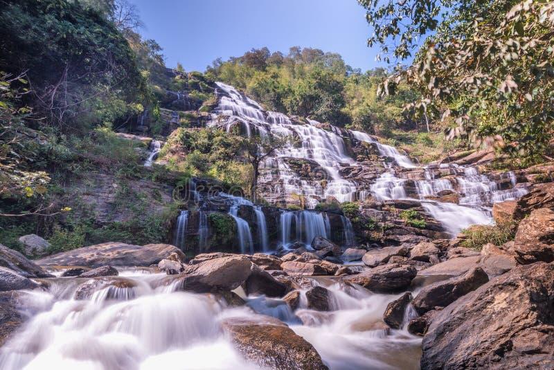 Mae Ya Waterfall Chiangma immagini stock