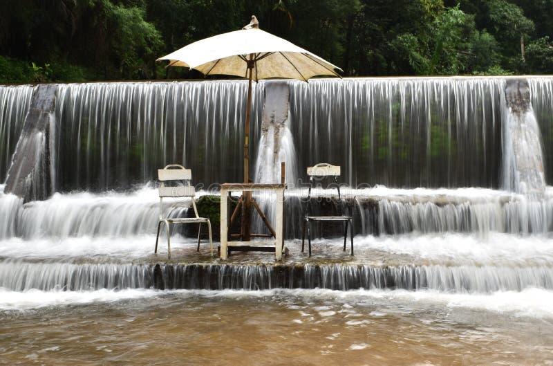 Maekhumpong vattenfall Chiang Mai Thailand fotografering för bildbyråer